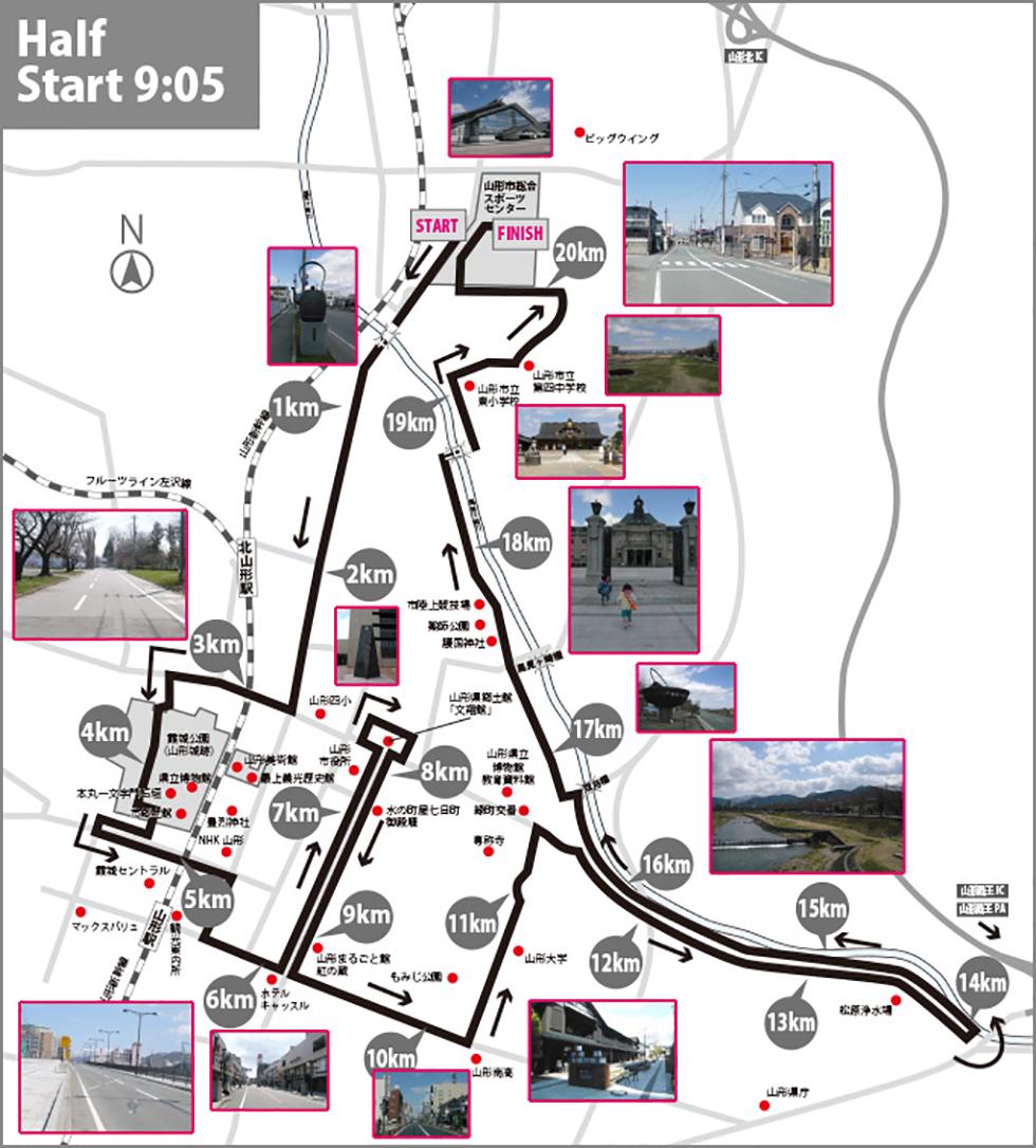 ハーフマラソンコースマップ