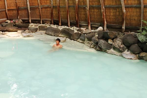 温泉の使用可能な写真